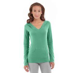 Eos V-Neck Hoodie-XL-Green