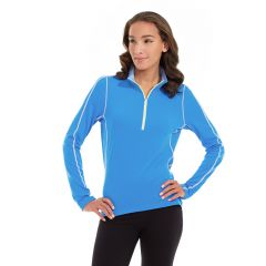 Olivia 1/4 Zip Light Jacket-XL-Blue