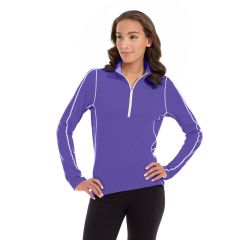 Olivia 1/4 Zip Light Jacket-XL-Purple